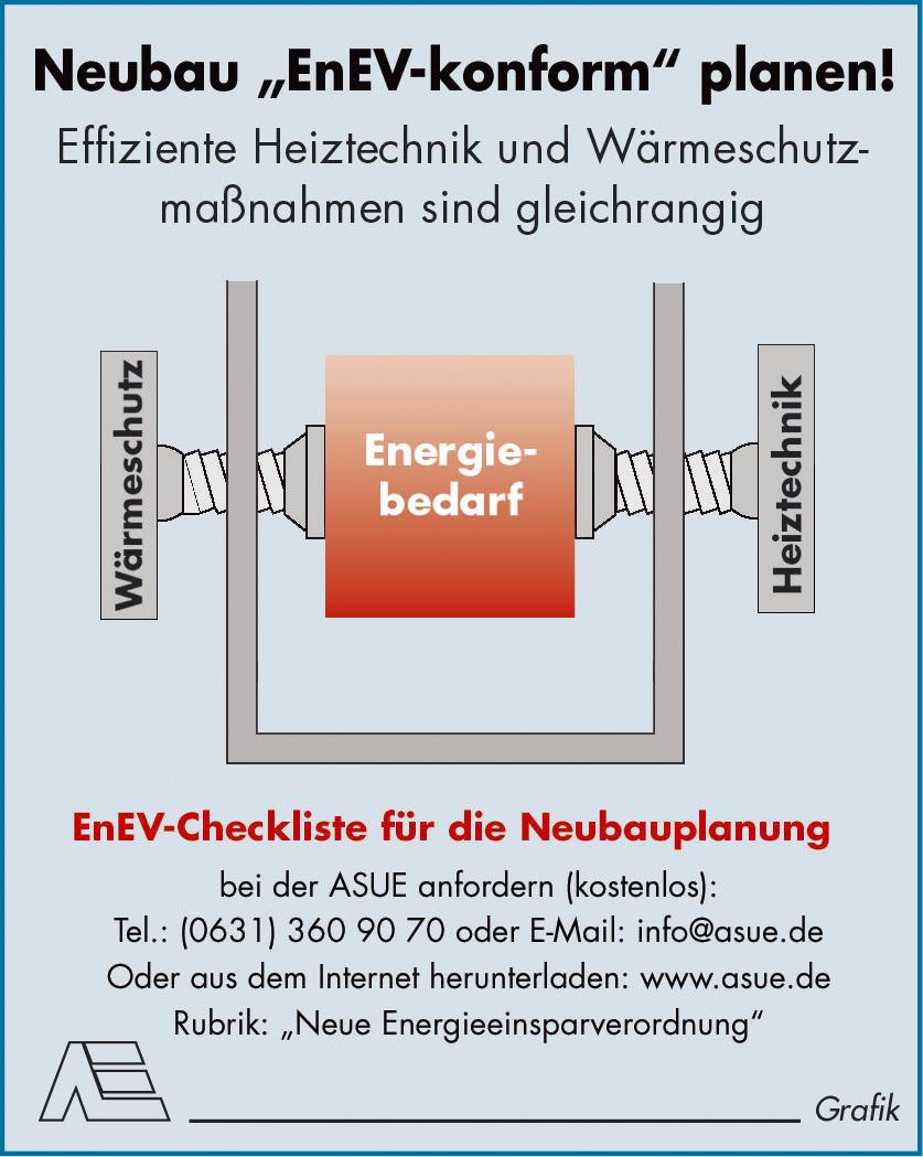 Energieeinsparverordnung neubau