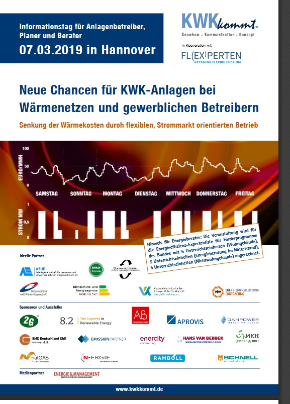 Programm Infotag Flex-KWK am 07.03.2019 in Hannover