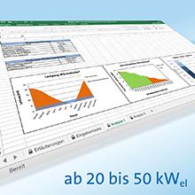 Kostenlose Excel-Tools zur Wirtschaftlichkeitsberechnung von KWK-Anlagen bis 50 kW elektrisch